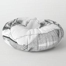 Drawing Hands Floor Pillow