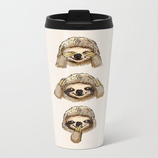 No Evil Sloth Metal Travel Mug