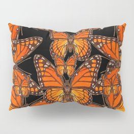 Monarch Butterflies Migration Black Pattern Art Pillow Sham