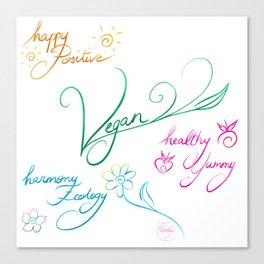 Vegan & happy lifestyle Canvas Print