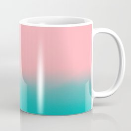 Modern abstract emerald green pink coral ombre Coffee Mug