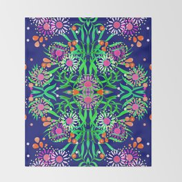 Abstract gumtree Throw Blanket