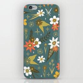bright fun floral pattern iPhone Skin