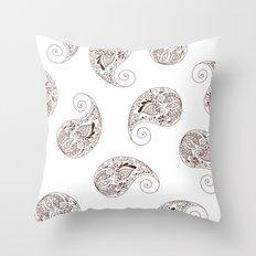 Paisley - Henna Tone -  Boho - Throw Pillow