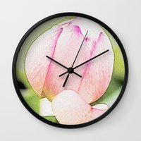 lotus Wall Clocks featuring Lotus by Karl-Heinz Lüpke