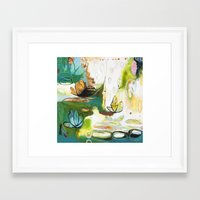 "flora bowley Framed Art Prints featuring ""Rise Above"" Original Painting by Flora Bowley by Flora Bowley"