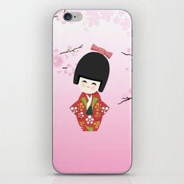 Kokeshi Red iPhone Skin