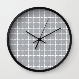 Dotted Grid Grey Wall Clock
