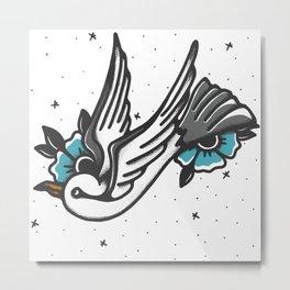 Swooping Seagull Metal Print
