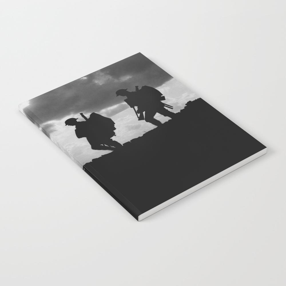 Soldier Silhouettes - Battle Of Broodseinde Notebook by Warishellstore NBK7809675