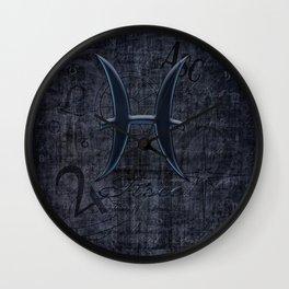 Zodiac Sign Pisce Wall Clock