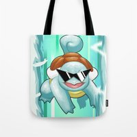 squirtle Tote Bags featuring Squirtle Squad by Patrick Towers