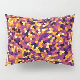 Stained glass colorful voronoi, vector eps abstract. Irregular cells background pattern. 2D Geometri Pillow Sham