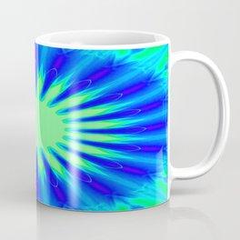Aqua Starburst Coffee Mug