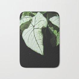 White Leaves Bath Mat