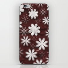 Melted Chocolate and Milk Flowers Pattern iPhone Skin