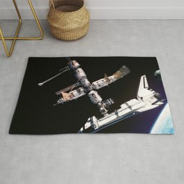 Space Shuttle Space Station Mir Dock Rug