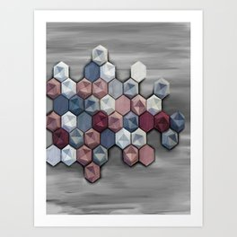 hex abstract Art Print