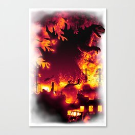 Oh, no! There Goes Tokyo! Canvas Print