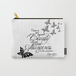 'Strange Skullerflies' -  Quotes - Edgar Allan Poe Carry-All Pouch