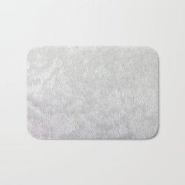 White Faux Fur Print Bath Mat