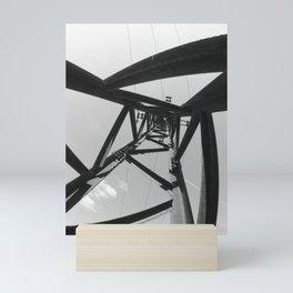 Power pole black and white Mini Art Print