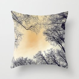 Infrared Forest Throw Pillow