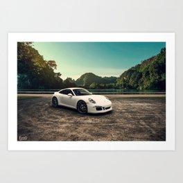 Porsche 911 Carrera 4S Aero Art Print