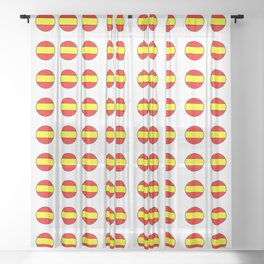 Flag of spain 13-spain,espana, spanish,plus ultra,espanol,Castellano,Madrid,Barcelona Sheer Curtain