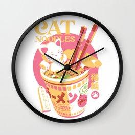Cat Noodles Wall Clock