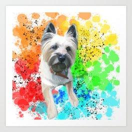 Rainbow Cairn Terrier Toto Art Print