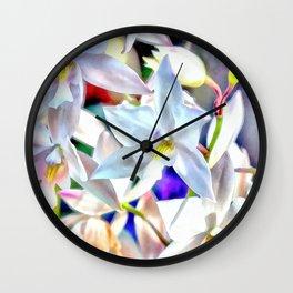 Cascading Cymbidium Wall Clock