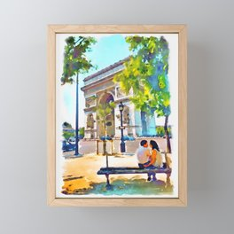 The Arc de Triomphe Paris Framed Mini Art Print