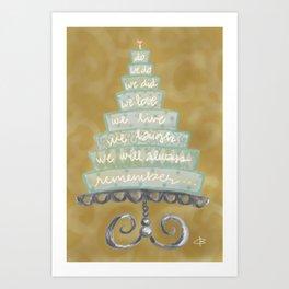anniversary cake Art Print