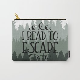 I Read to Escape (Trees) Carry-All Pouch