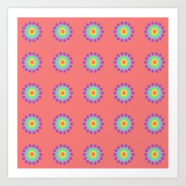 Pink Pop-Ups Art Print