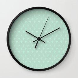 White Wine Grape Pattern Wall Clock