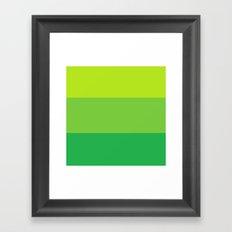 Green Colorblock Framed Art Print