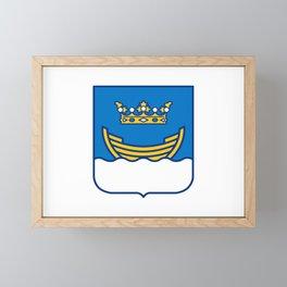Flag of Helsinki Framed Mini Art Print