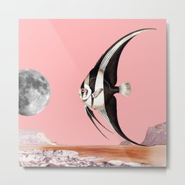 Plenty of fish in the sea Pink Metal Print