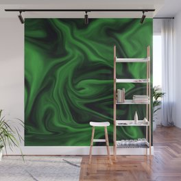 Black and green marble pattern Wall Mural