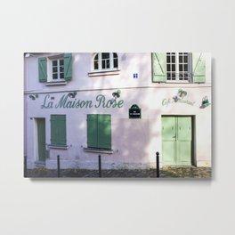La Maison Rose Montmartre Paris Metal Print