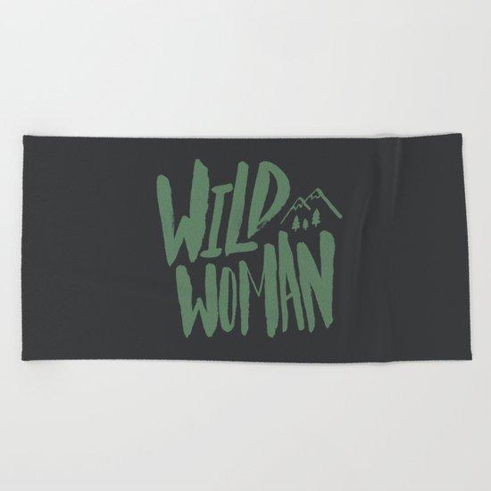 Wild Woman Beach Towel