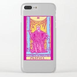 Justice - A Femme Tarot Card Clear iPhone Case