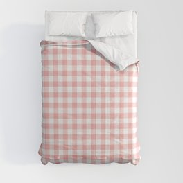 Lush Blush Pink and White Gingham Check Comforters