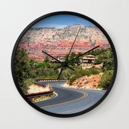Winding road in Sedona, Arizona Wall Clock
