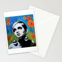 Twiggy with Daisies Stationery Cards