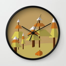 Candy Corn Forest Wall Clock
