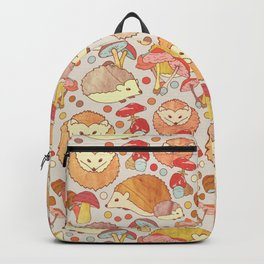 Woodland Hedgehogs - a pattern in soft neutrals  Backpack