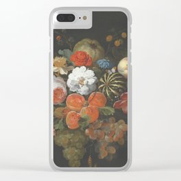 Abraham Mignon - Garland Of Fruit And Flowers Late 1660 Clear iPhone Case